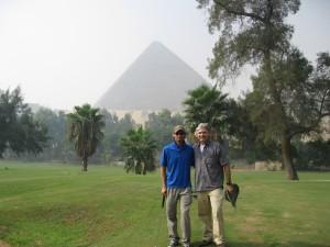 Glen and Scott on the links.