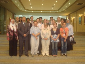 Fulbright Scholars and students at Cairo University Library