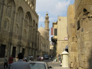 Islamic Cairo--old main thoroughfare between old wall and Khan-i-Khalili