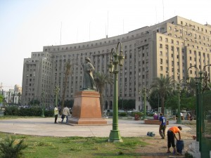 Mugamma Building on Tahrir Square--the national government bureaucracy of Egypt