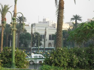 Old Campus of AUC off of Tahrir Square in the Heart of Cairo