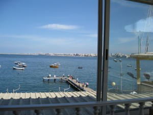 Beautiful Med. Sea oustide the restaurant