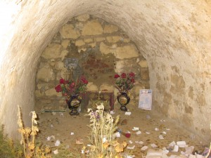 Cave beneath St. Mark's Church where it is thought that Mark's head is burried