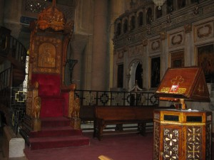 Papal Chair in St. Mark's (ex cathedra!)