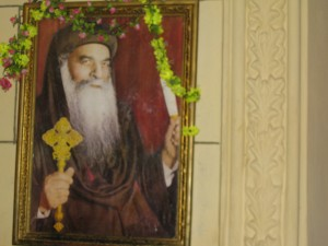 Portrait of Pope Shenuda in St. Mark's Church