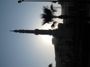 Mosque at sunrise in Alexandria