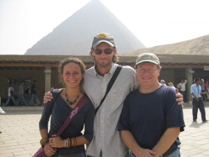 Valentina, Glen and me in Giza