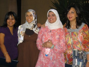 Awesome staff from the Fulbright Commission office: Hend, Amira, Noha, and Ranya