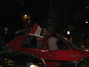 Nov. 15--Egyptians happy they beat Algeria 2-0 to force a playoff on Wed in Sudan