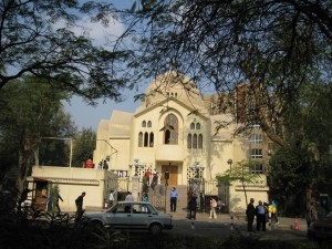 Church services on Friday in Coptic Cairo
