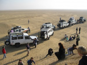 Our 4X4 caravan through the Sahara desert