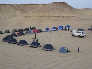 Our campsite in the Sahara Desert