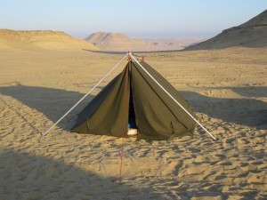 My tent--it shook all night with the high desert wind!