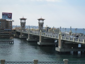 Bridge on Mediterranean Sea, Alexandrian Cornishe