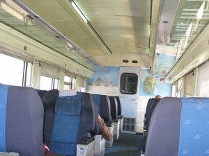 Inside a first-class cabin on the Train to Alex