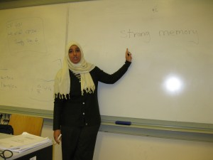 Amani giving a lecture