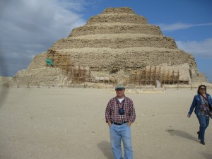 Me in front of the Step Pyramid in Sakkara