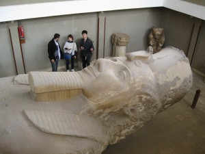 Close up of Ramses II--thought to be Pharaoh during Moses time