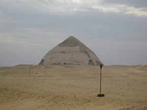 "Famous ""Bent Pyramid"" in Dashour"