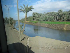 Canal on the way back to Cairo