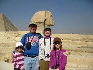 The family next to the Sphinx