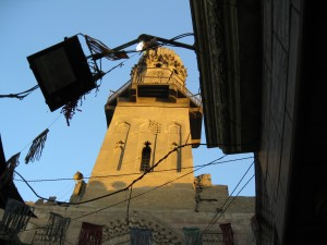 Mosque minaret in the market