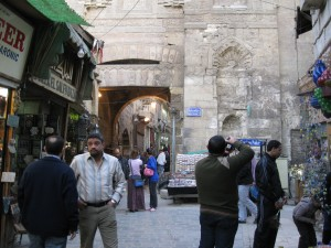 800 year old gate in Khan-i-Khalili