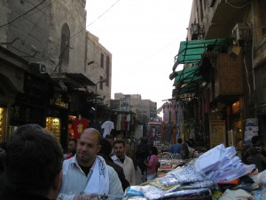 Streets teeming with merchants