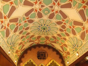 Beautiful ceiling at Naguib Mafouz restaurant