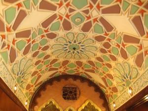 Beautiful ceiling at Naguib Mafouz restaurant