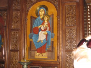 One of many icons in the Church