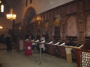 Prayer rail leading to altar