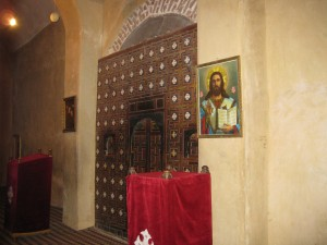 Entrance to altar in Church of the 49 Martyrs