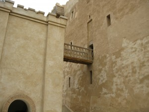 Monastery keep - where monks went to escape attack in Middle Ages (drawbridge pulled up)
