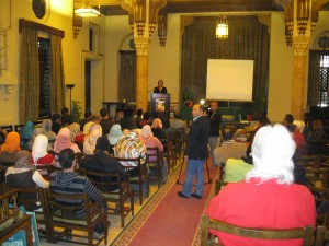 "Talk at Oriental Hall on ""A Crude Awakening"" Film sponsored by American Studies"