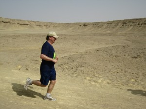 Running in solitude in the Sahara