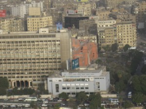 Pink Building is the Egyptian Museum downtown in Tahrir Square