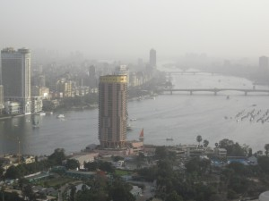 Looking south along the Nile toward Maadi