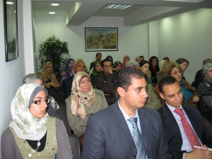 Audience for the discussion (Sondoss and Sherif in foreground)