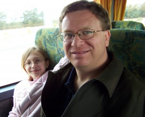 Ivy and Me on the Bus to Wadi Natrun