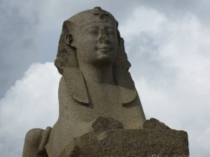 Sphinx moved from Heliopolis in Cairo to Alexandria