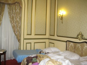Our hotel room at the Metropole in Alexandria