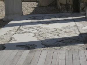 Mosaic floor in Roman Ampitheter