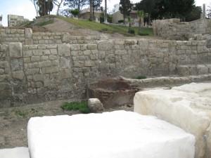 Roman Ruins in Alexandria near Ampitheter