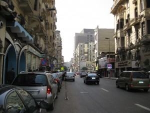 Talat Harb Street looking toward Mugamma