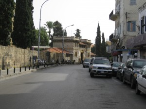 Bliss Street looking at main AUB gate