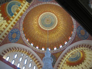 Ceiling and dome of Mosque