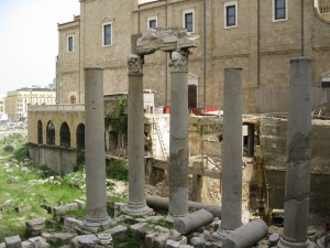 Ancient Roman ruins in downtown Beruit