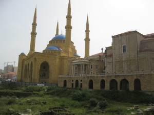 Mosque and Church next to each other