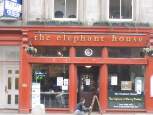 "Elephant House, where JK Rowling wrote ""Harry Potter"""